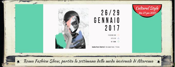 Roma fashion show partita la settimana della moda for Altaroma gennaio 2017