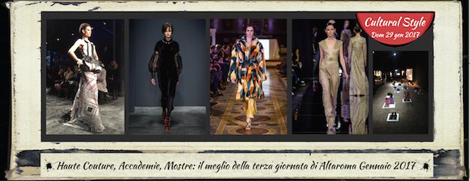 Haute couture accademie mostre il meglio della terza for Altaroma gennaio 2017